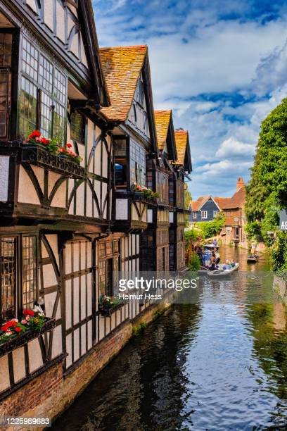 house facades canterbury - history stock pictures, royalty-free photos & images