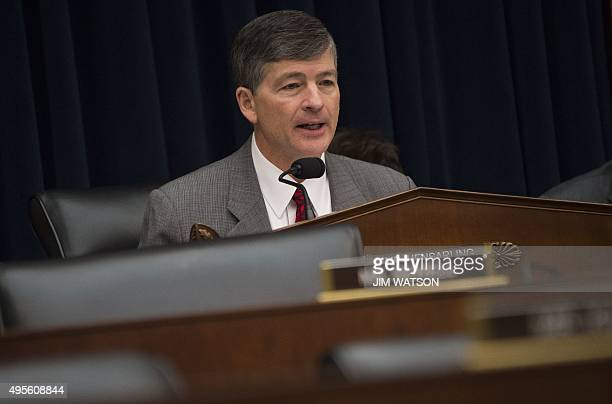 House Financial Services Chairman Jeb Hensarling questions Federal Reserve Chair Janet Yellen as she testifies before the House Financial Services...