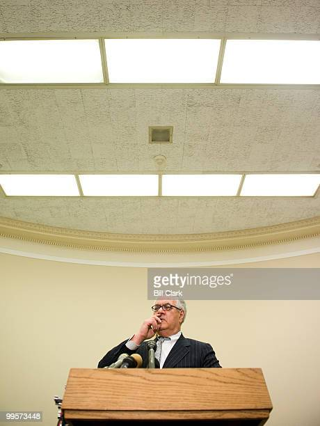 House Financial Services Committee chairman Barney Frank DMass holds a news conference to discuss the committee's agenda for the month on Thursday...