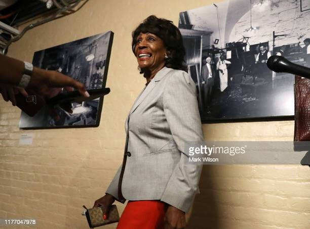 House Financial Services Committee Chairman Maxine Waters walks to a meeting with the House Democratic caucus one day after House Speaker Nancy...