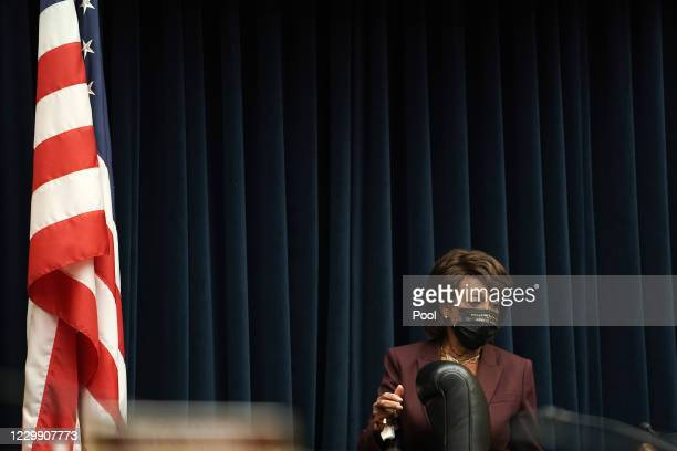 House Financial Services Committee Chairwoman U.S. Rep. Maxine Waters arrives for a House Financial Services Committee oversight hearing to discuss...