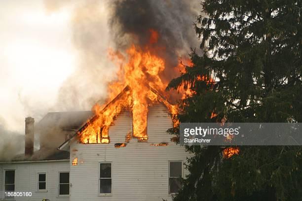 house fire 1- beavercreek, dayton, ohio. - burning stock pictures, royalty-free photos & images