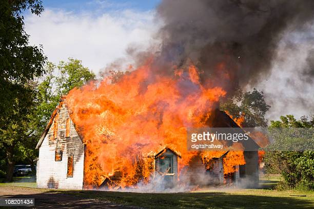 house fire - inferno stock photos and pictures