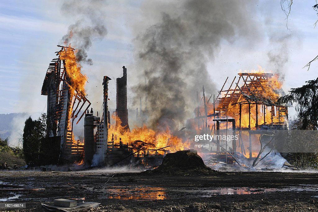 House Fire : Stock Photo