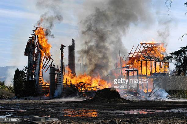 house fire - fire natural phenomenon stock pictures, royalty-free photos & images