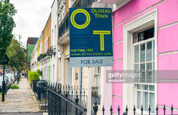 House for sale on colourful street in Camden, London