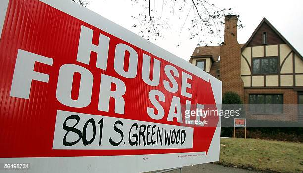 A 'House For Sale' sign is visible in front of an existing home December 29 2005 in Park Ridge Illinois Sales of existing homes in November fell...