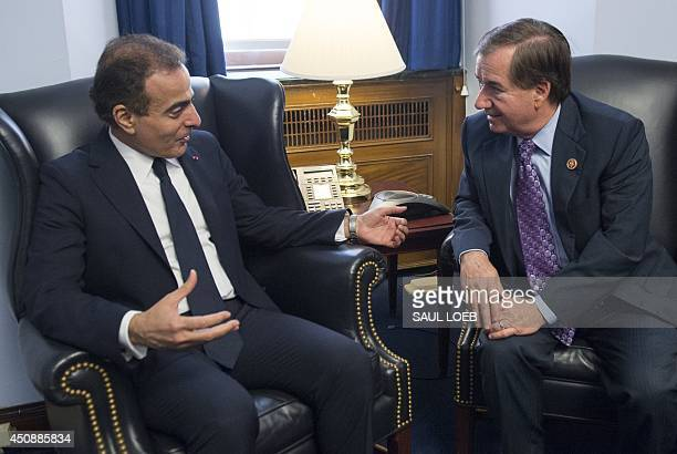 US House Foreign Affairs Chairman Ed Royce of California and Mohammed Jaham Al Kuwari Ambassador of Qatar to the United States meet on Capitol Hill...