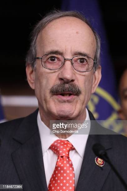 House Foreign Relations Committee Chairman Eliot Engel speaks during a news conference following the passage of a resolution formalizing the...
