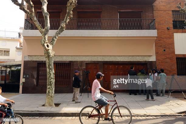 Front of the house where Jorge Mario Bergoglio was raised in Membrillar 531 in the Flores Quarter Casa Frente de la casa donde se crio el ex cardenal...