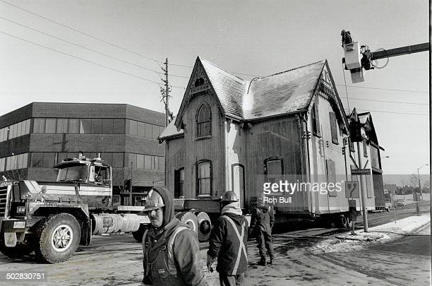 House gets new home A crew clears the way as this 129yearold Scarborough home moves along Finch Ave E at Middlefield Rd yesterday morning aboard a...