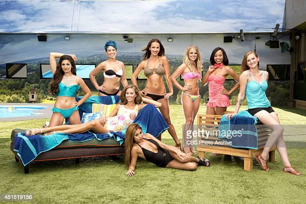 House guests Victoria Rafaeli Joey Van Pelt Brittany Martinez Nicole Franzel Jocasta Odom Christine Brecht Amber Borzotra and Paola Shea will compete...