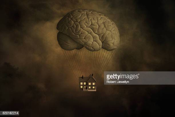 House Hanging From Brain