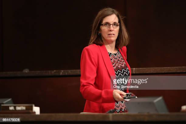 House Homeland Security Committee's Border and Maritime Security Subcommittee Chairwoman Martha McSally arrives for a hearing in the House Visitors...