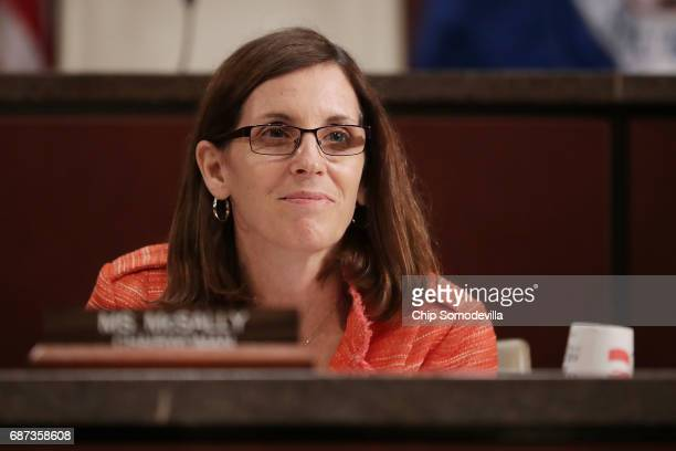 House Homeland Security Committee's Border and Maritime Security Subcommittee Chair Martha McSally conducts a hearing at the US Capitol May 23 2017...