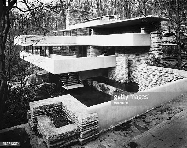 House in Bear Run Pennsylvania designed by architect Frank Lloyd Wright for Edgar Kaufmann