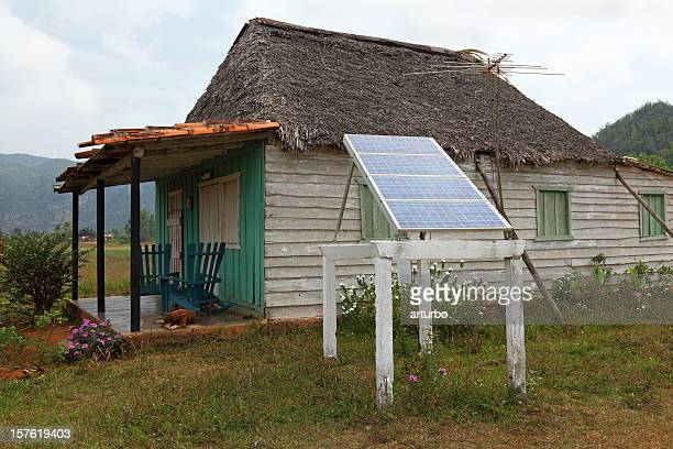 house in Cuba with solar panel