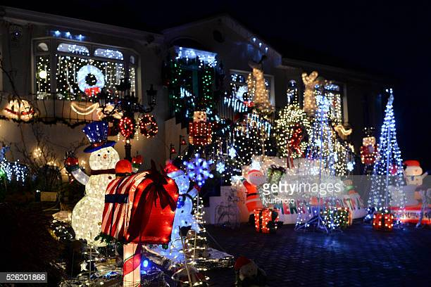 House in Dalkey, in the South of Dublin, lights up with a variety of Christmas decorations, as more and more houses around the Irish capital are...