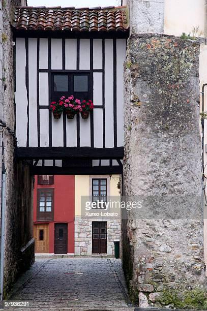 House in Historic town of Llanes Way of saint James Asturias region 23th Juny 2008