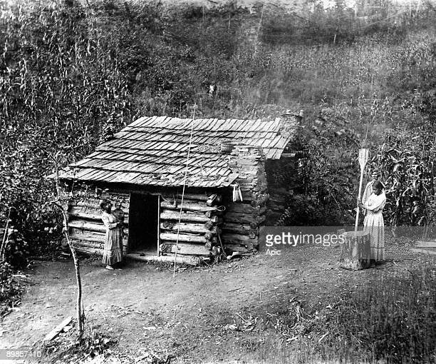 House in the reserve of Cherokee Indians of North Carolina Qualli 1888 belonging to Ayunini says Swimmer Small house belonging to Ayunin called the...