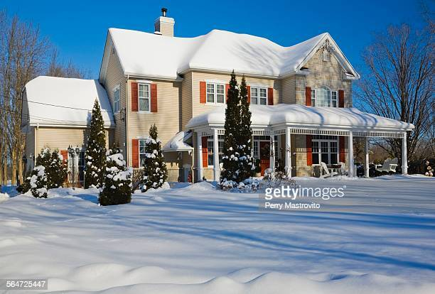 House in winter, Quebec, Canada