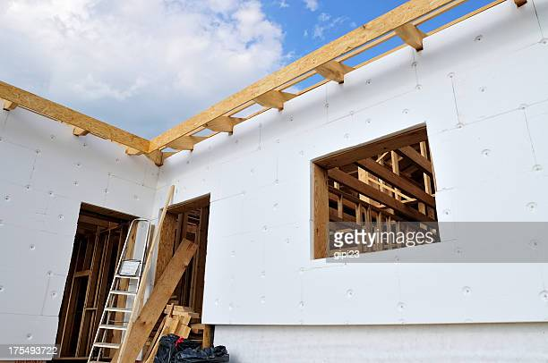 house insulation - polystyrene stock pictures, royalty-free photos & images