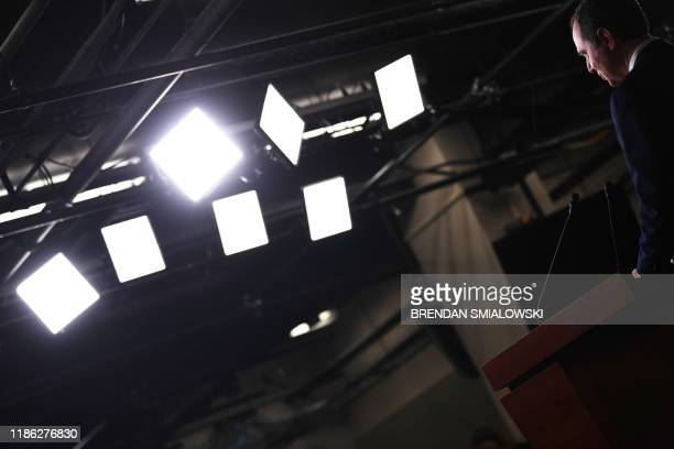 House Intelligence Committee chair, Adam Schiff, speaks during a press conference on December 3 after the release of the final report of the...