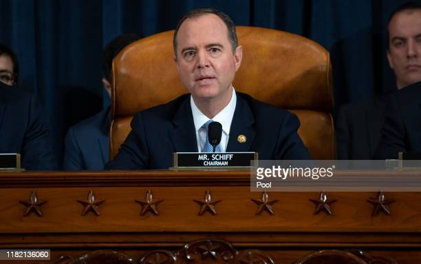 House Intelligence Committee Chairman Adam Schiff gives an opening statement during the first public hearings held by the House Permanent Select...