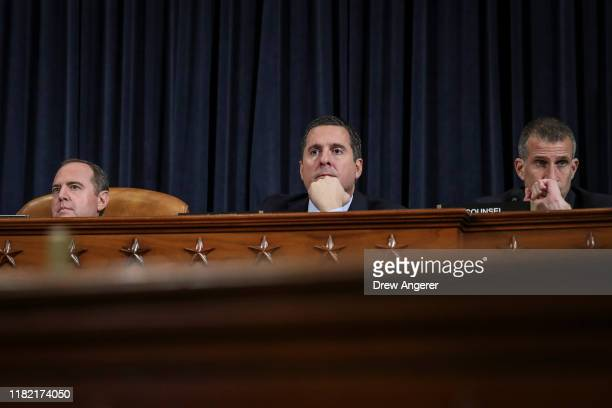 House Intelligence Committee Chairman Adam Schiff House Intelligence Committee ranking member Rep Devin Nunes and Steve Castor House Intelligence...