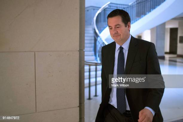 House Intelligence Committee Chairman Devin Nunes arrives at the committee's secure offices in the basement of the US Capitol House Visitors Center...