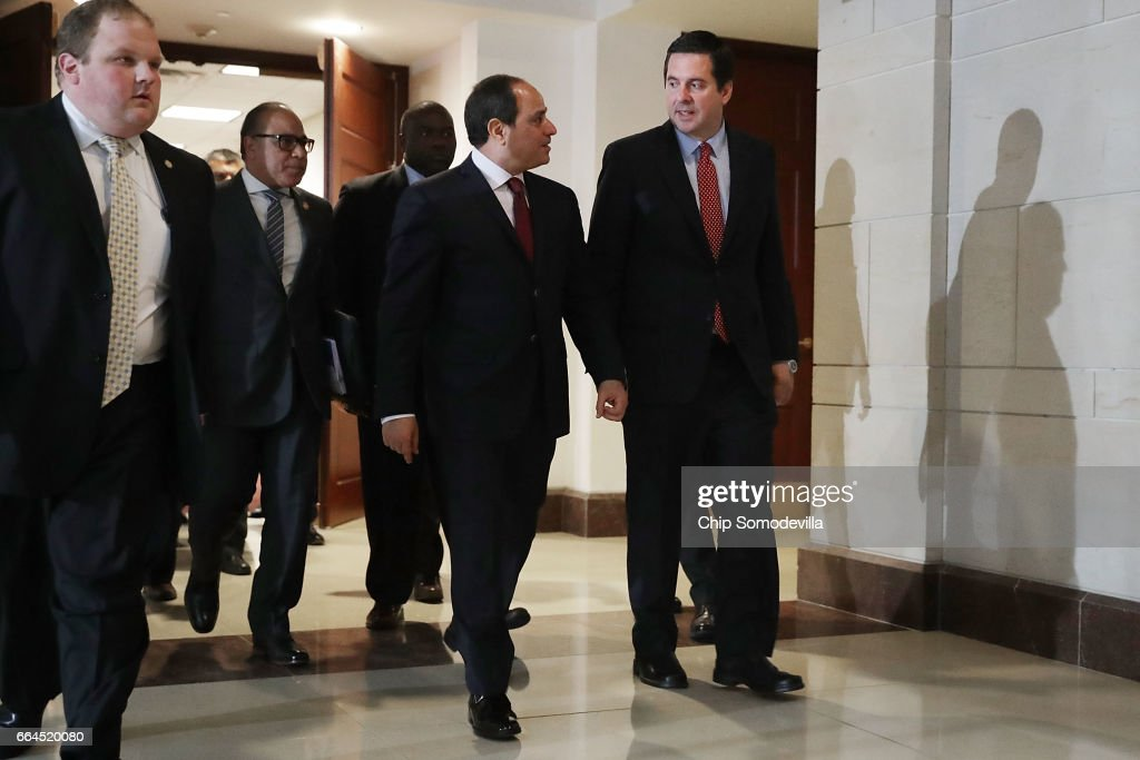 House Intel Committee Chairman Rep. Devin Nunes (R-CA) Meets With Egyptian President El Sisi : News Photo