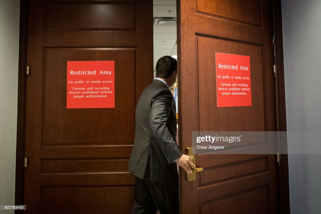 House Intelligence Committee Interviews Jared Kushner As Part Of Russia Probe : News Photo