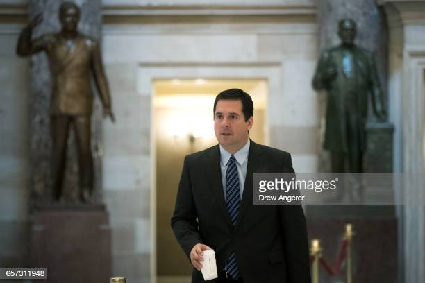 House Intelligence Committee chairman Rep Devin Nunes walks to the House floor on Capitol Hill March 24 2017 in Washington House Republicans are...
