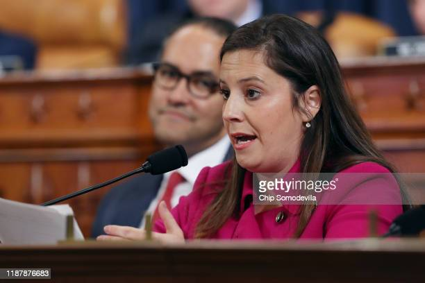 House Intelligence Committee member Rep Elise Stefanik questions former US Ambassador to Ukraine Marie Yovanovitch during a hearing in the Longworth...