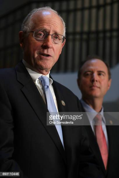 House Intelligence Committee member Rep Mike Conaway and ranking member Rep Adam Schiff who together are leading the committee's investigation into...