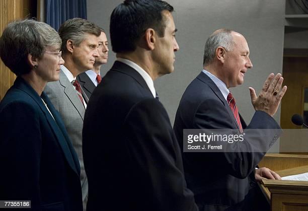 "House Intelligence Committee members Heather A. Wilson, R-N.M., Todd Tiahrt, R-Kan., William M. ""Mac"" Thornberry, R-Texas, Darrell Issa, R-Calif.,..."