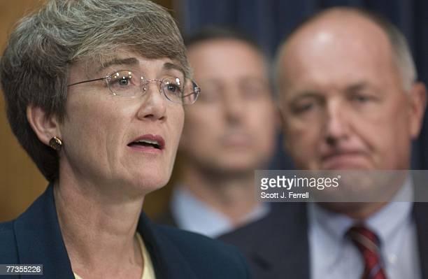 "House Intelligence Committee members Heather A. Wilson, R-N.M., William M. ""Mac"" Thornberry, R-Texas, and ranking member Peter Hoekstra, R-Mich.,..."
