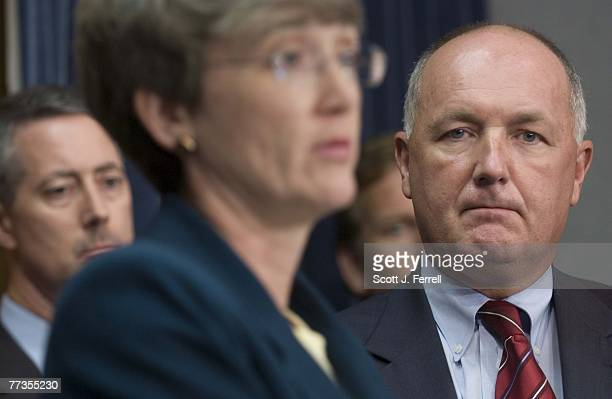 """House Intelligence Committee members William M. """"Mac"""" Thornberry, R-Texas, Heather A. Wilson, R-N.M., Mike Rogers, R-Mich., and ranking member Peter..."""