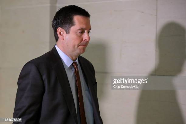 House Intelligence Committee ranking member Rep Devin Nunes arrives for a closeddoor hearing with Michael Cohen former attorney and fixer for...