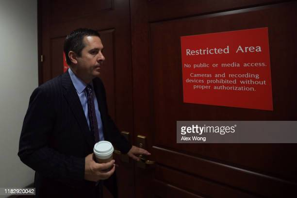 S House Intelligence Committee ranking member Rep Devin Nunes arrives at a closed session before the House Intelligence Foreign Affairs and Oversight...