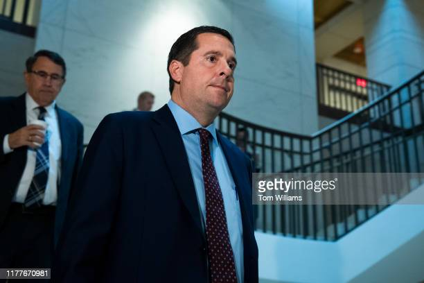 House Intelligence Committee ranking member Rep Devin Nunes RCalif arrives to the Capitol for the deposition of Bill Taylor the acting US ambassador...