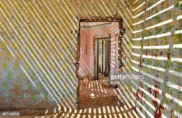 House interior in the ghost Town Kolmanskop, Namibia