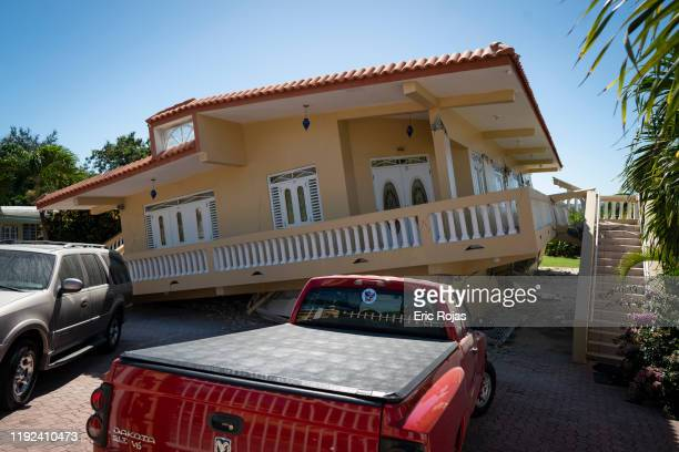 A house is collapsed after a 64 earthquake hit just south of the island on January 7 2020 in Guayanilla Puerto Rico This morning's earthquake was...