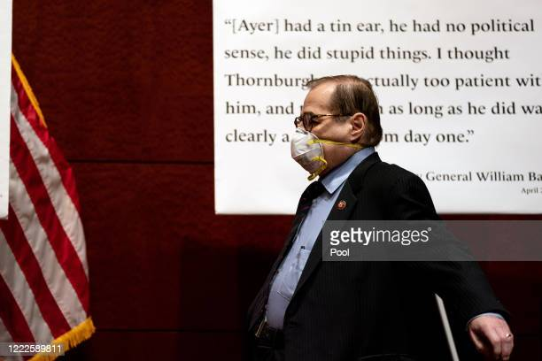 House Judiciary Committee Chairman Jerrold Jerry Nadler arrives at a hearing on June 24 2020 in Washington DC Democrats are highlighting what they...