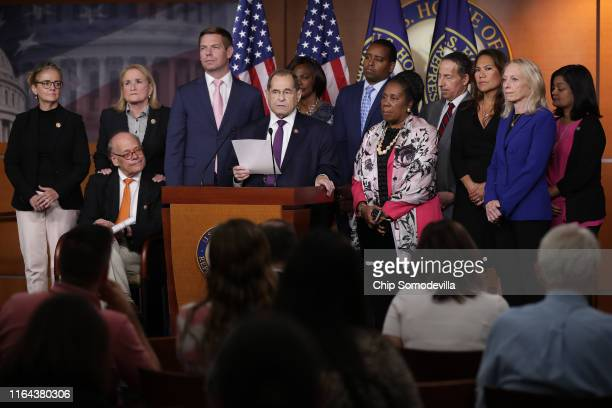 House Judiciary Committee Chairman Jerrold Nadler and fellow Democratic members of the committee hold a news conference about this week's testimony...