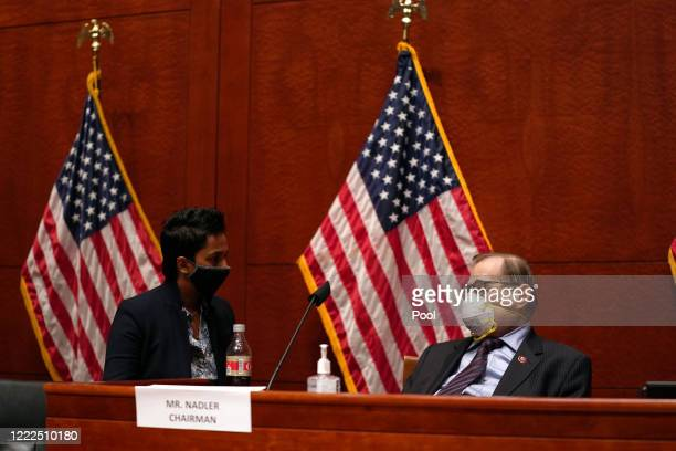 S House Judiciary Committee Chairman Jerrold Nadler attends a hearing at the Capitol Building on June 24 2020 in Washington DC Democrats are...