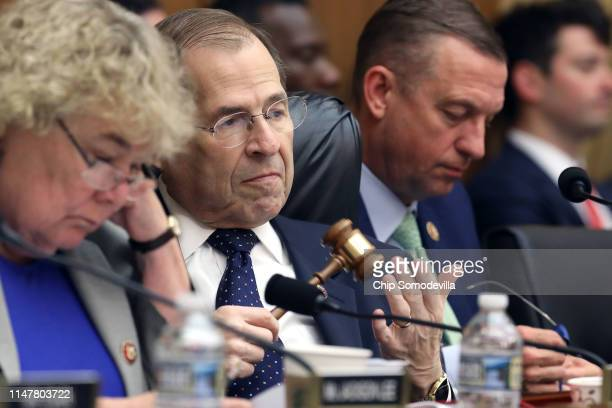 House Judiciary Committee Chairman Jerrold Nadler presides over a markup hearing where members may vote to hold Attorney General William Barr in...