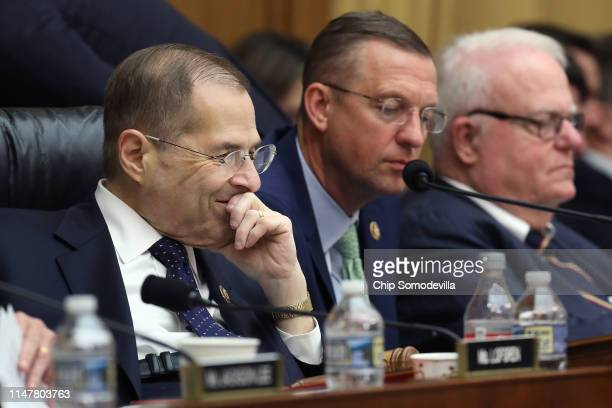 House Judiciary Committee Chairman Jerrold Nadler presides over a markup hearing with ranking member Rep Doug Collins where members may vote to hold...