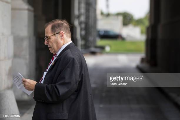 House Judiciary Committee Chairman Jerrold Nadler returns to the Capitol Building following an observance and campus wide moment of silence for the...