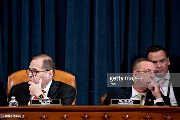 House Judiciary Committee Chairman Jerry Nadler and ranking member Rep. Doug Collins look on during a House Judiciary Committee markup hearing on the...